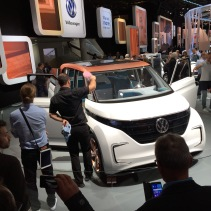 The future VW campervan at the Paris Auto SHow