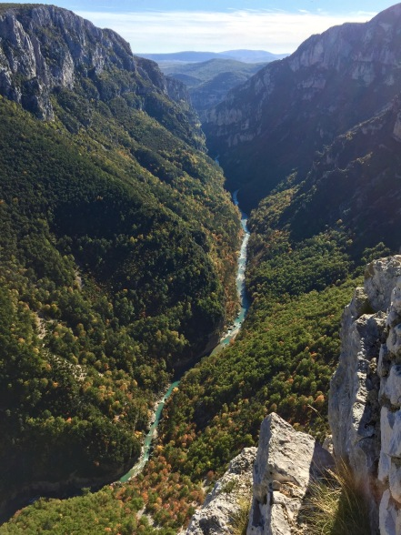 The gorge of the Verdon River in southern France