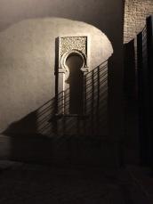 Shadowy courtyard in Zaragoza