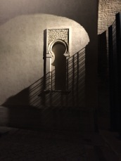 Shadowy courtyard in Zaragoza