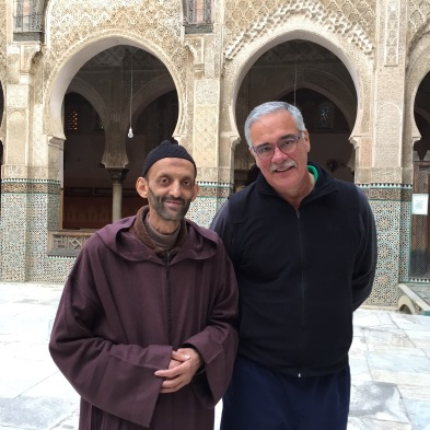 Two prayer leaders at Bou Inania Mosque/School, Fes