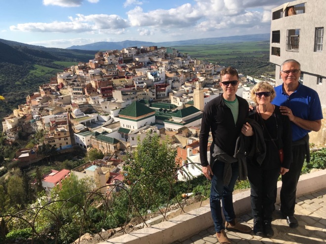 Will, Lynnell, & John in Moulay Idriss