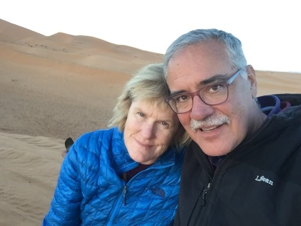Lynnell and John in the dunes