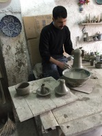 Potter at his wheel, Fes, Morocco