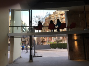 Patrons at Barcelona Airport