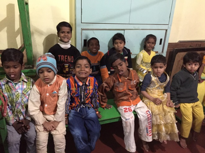 kids at Somit Guest House, Varanasi