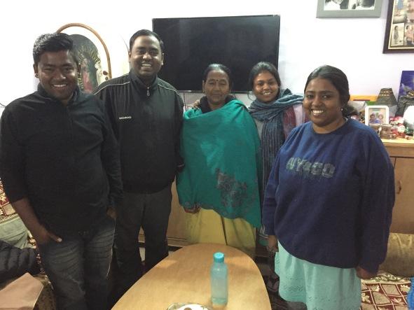 John, Moses, their mom, Steffi, and Roslyn Rosario, Agra