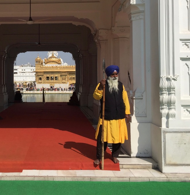 Sikh Guard at Golden Temple Gate – Version 2