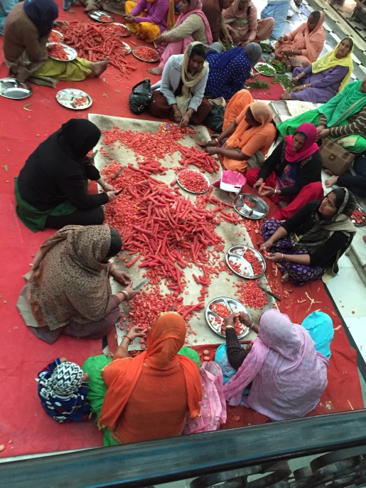 Prepping Radishes, Golden Temple