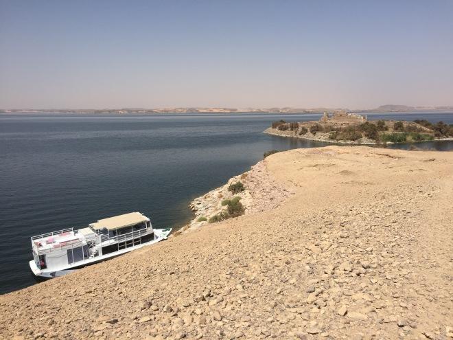 Docked at Kasr Ibrim