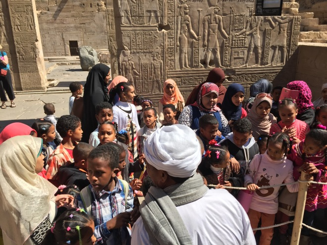 schoolchildren, Temple of Kom Ombo