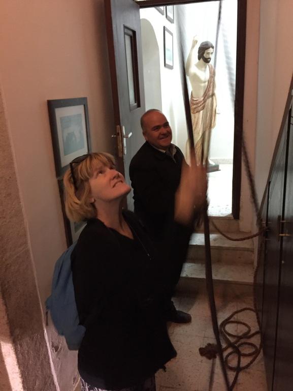 Lynnell Ringing Bells at St. John's Beheading Shrine