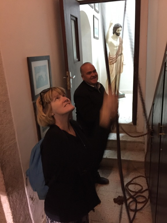 Lynnell Ringing Bells at St. John's Beheading Shrine