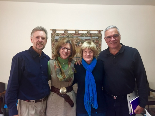 Doug and Patti Magnuson, Lynnell, and John at MESP, Amman, Jordan