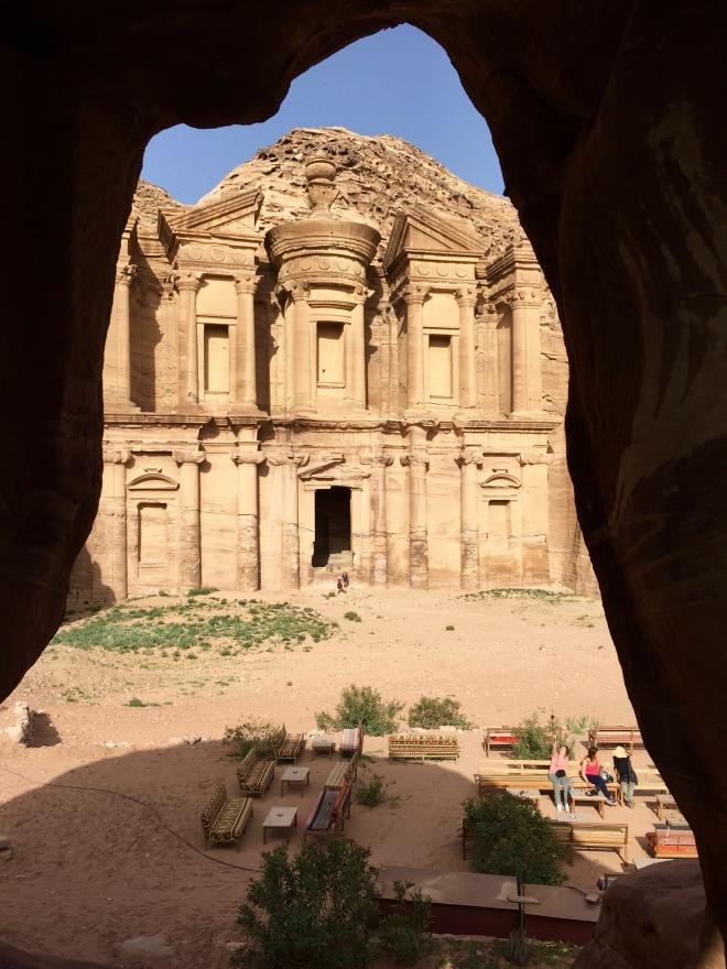 Petra Monastery from donkey-cave