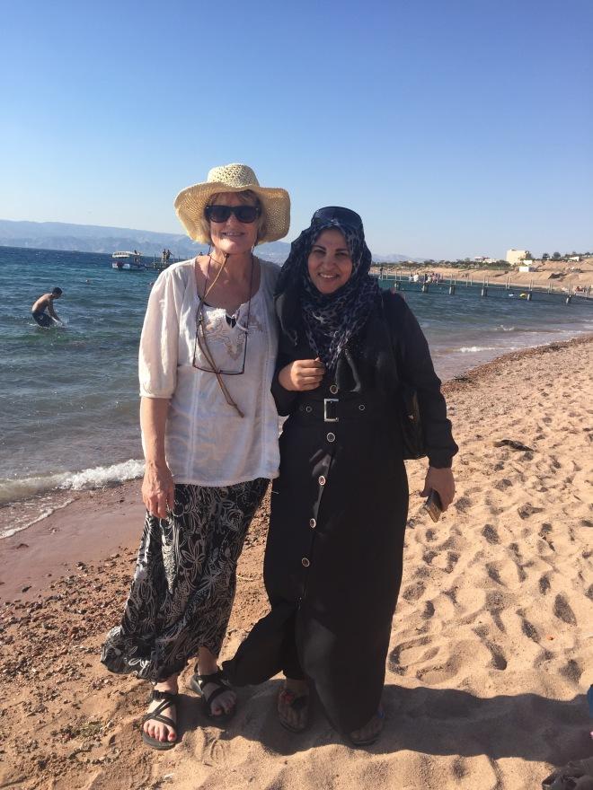 LM on Muslim beach1