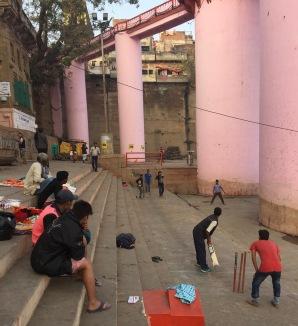Ghat Cricket in Varanasi