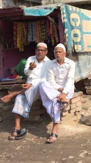 Two Men Chatting After Friday Prayers, Varanasi