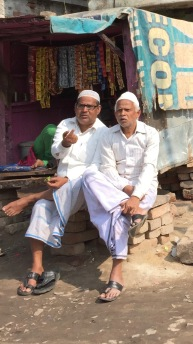 Two Men Chatting After Friday Prayers, Varanasi