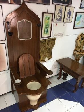 At The Delhi Toilet Museum: Louis XIV's Throne