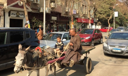 Grandpa and Grandson On Chic Maadi Street, Cairo