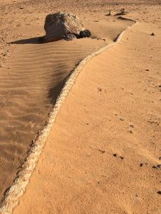Rope In Sand, Sahara Desert, Near Lake Nasser