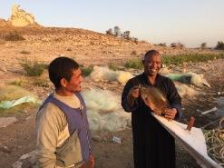 Hani, Our Lake Nasser Guide, Buys Fish