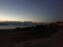 The Lights Of Jericho From Across The Dead Sea
