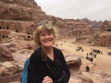 Lynnell In Petra's Central Square