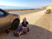 Fixing A Flat On Dead Sea Highway