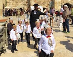 Kids & Teacher At Western Wall, Jerusalem