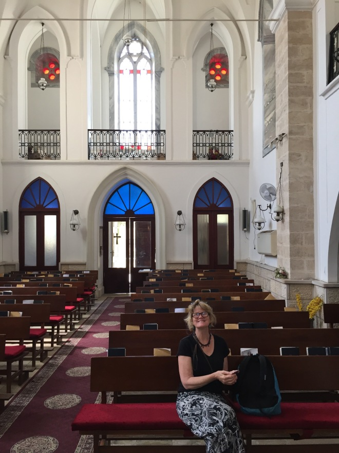 LM inside Christ Anglican Church, Nazareth