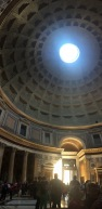 We never got tired of the Oculus in the Pantheon in rome