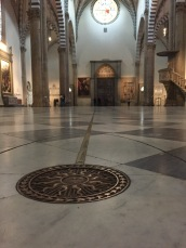 Summer Solstice - sun-angle finder, Santa Maria Novella Church, Florence