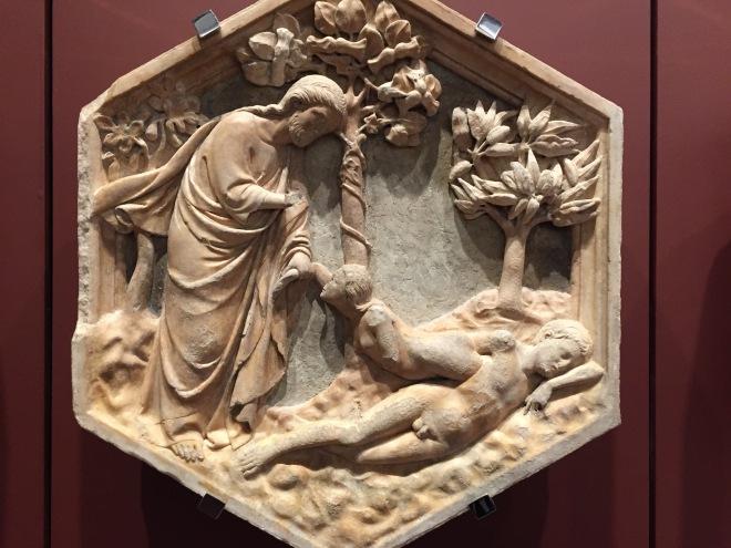 Eve taken from Adam's Rib, Duomo Museum, Florence