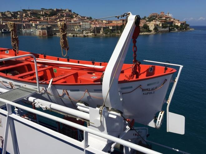 Elba Shoreline and Mobty Lifeboat