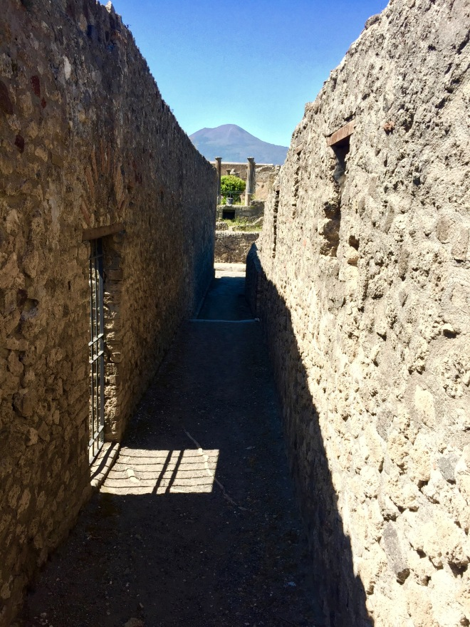 Vesuvius and gate-shadow, Pompeii