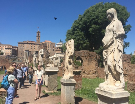 Vestal Virgins in Roman Forum