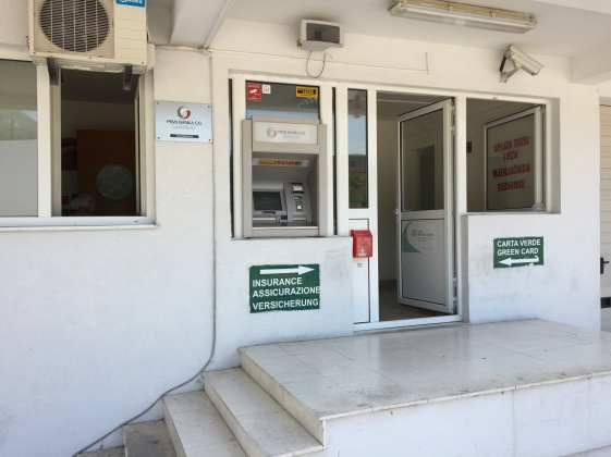 Montenegran Insurance Sales Office at Border