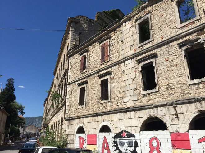 A ruined building, Mostar