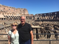 J & L in the Colosseum