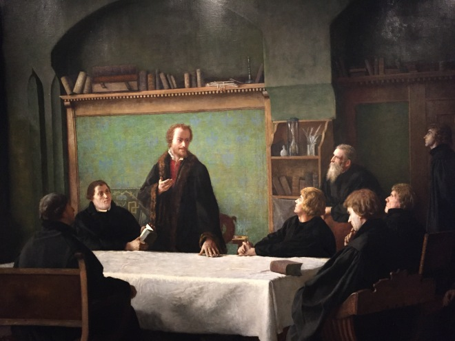 Melanchthon teaching in his house