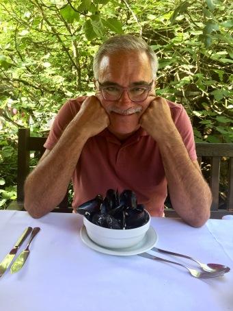 John Loving the Mussels