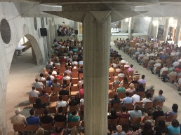 Undercroft mass, Mostar Catholic Cathedral of Ss Peter and Paul
