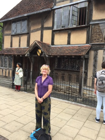 Lynnell at Shakespeare's birthplace