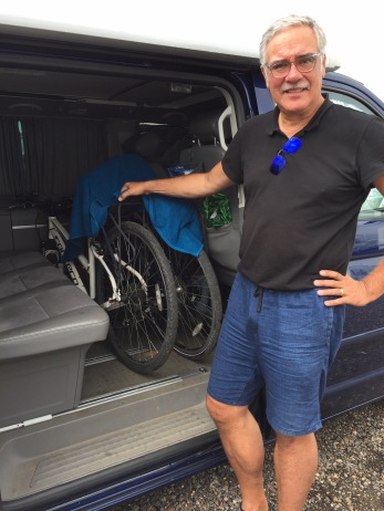 bikes stored inside van