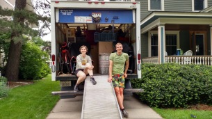 Ian and Christine moving all their stuff EAST with Charley