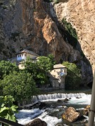 Dervish House, Source of Buna River from Mountain, Blagaj, Herzegovina